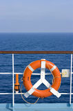 Red Lifebuoy - Blue Sea Royalty Free Stock Photos