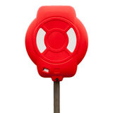 Red lifebuoy case isolated on white Royalty Free Stock Photography