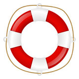 Red lifebuoy Stock Photo