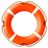 Red lifebuoy ring front Royalty Free Stock Photo