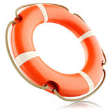 Red lifebuoy ring isolated Royalty Free Stock Photo