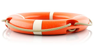 Red lifebuoy ring isolated Royalty Free Stock Photos