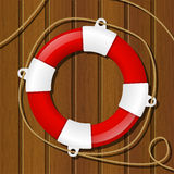 Red lifebuoy Stock Images