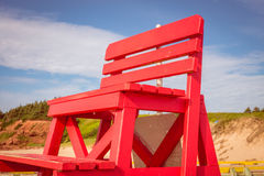 Red lifeguard chair Royalty Free Stock Photography