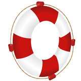 Red lifesaver with rope Stock Photography