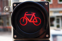 Red light. For a bike Royalty Free Stock Photography