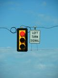 RED LIGHT. Ed traffic signal and sky Royalty Free Stock Images