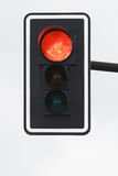 Red light. Black traffic-light with red light on Royalty Free Stock Image