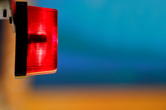 Red light - ON AIR sign. TV studio shallow DOF, focus on the red lamp - on Air sign Stock Image