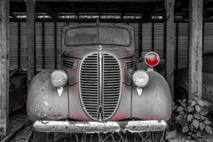 Red Light. On Antique Police Car Royalty Free Stock Photos