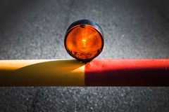 Red light on the automatic barrier Royalty Free Stock Photo