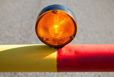 Red light on the automatic road barrier royalty free stock image