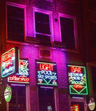 Red Light Bar in Amsterdam Stock Photography