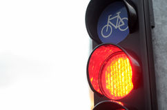 Red light for bicycle traffic Stock Images