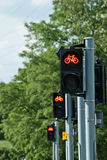 Red light for bicycles Royalty Free Stock Photography