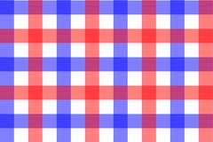 Red and Light Blue Gingham pattern. Texture from rhombus/squares for - plaid, tablecloths, clothes, shirts, dresses, paper,. Bedding, blankets, quilts and other royalty free illustration