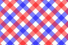 Red and Light Blue Gingham pattern. Texture from rhombus/squares for - plaid, tablecloths, clothes, shirts, dresses, paper,. Bedding, blankets, quilts and other stock illustration