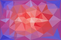 Red, light red and blue triangular pattern - triangles mosaic Royalty Free Stock Photography