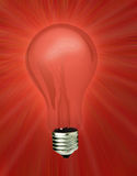 Red light bulb Royalty Free Stock Photography