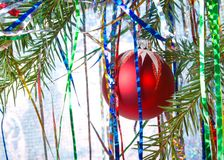 Red light bulb Cristmas Stock Image