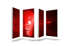 Red light bulb graphic on abstract screen Royalty Free Stock Photography