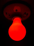 Red Light Bulb Royalty Free Stock Photo