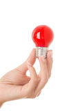 Red light bulb Royalty Free Stock Images