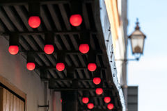 Red light bulbs. Stock Images