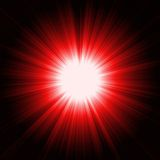 Red light burst. Bright red light burst background Stock Images