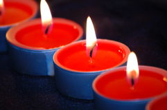 Red light candle Royalty Free Stock Image