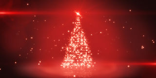 Red light christmas tree Stock Image