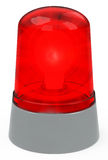 The red light. 3d generated picture of a red light royalty free illustration