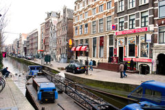 Red light district Amsterdam Royalty Free Stock Image