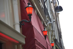 Red light district. In Amsterdam Royalty Free Stock Photography
