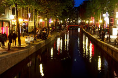 Red Light District at Amsterdam Stock Photos