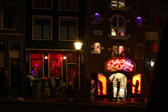 Red light district in Amsterdam Royalty Free Stock Photography