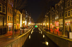 Red light district in Amsterdam Stock Images
