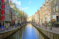 Red Light District in Amsterdam the Netherlands Royalty Free Stock Photo