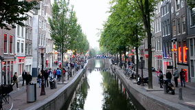Red Light District in Amsterdam, Netherlands, Royalty Free Stock Photos