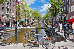 Red Light District in Amsterdam, Netherlands Royalty Free Stock Images
