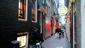 Red Light District in Amsterdam, Netherlands, Stock Photos