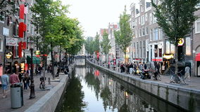 Red Light District in Amsterdam, Netherlands, Stock Photo