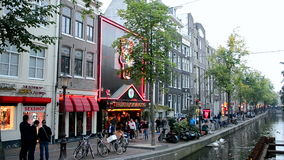 Red Light District in Amsterdam, Netherlands, Stock Photography
