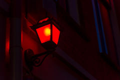 Red Light District. Red lantern on the wall in Red Light District in Amsterdam, Netherlands Royalty Free Stock Photo