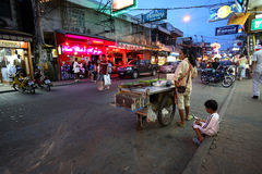 Red light district in Pattaya Stock Images