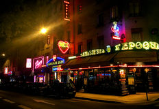 Red light District Pigalle Paris Royalty Free Stock Images