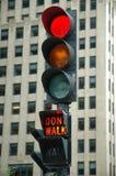 Red Light - Don't Walk stock photos