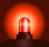 Red Light. Garishly shining red light, that warns of danger Royalty Free Stock Photos