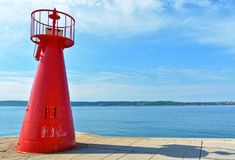 Red light house. Detail of red light house in Slovenia stock image