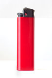 Red_light. Isolated red bright lighter on white background royalty free stock images